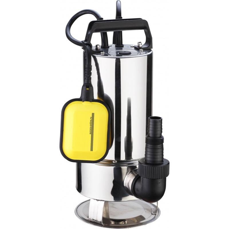 Погружной насос для грязной воды Aurora ASP 900 D INOX (14000 л/час, 900Вт)