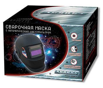 Упаковка сварочной маски Хамелеон Aurora A-998F Black Cosmo