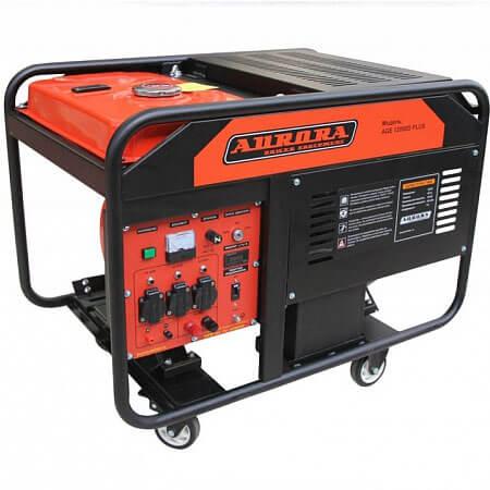 Бензогенератор Aurora AGE 12000 D PLUS (10 кВт, электростартер, счетчик)