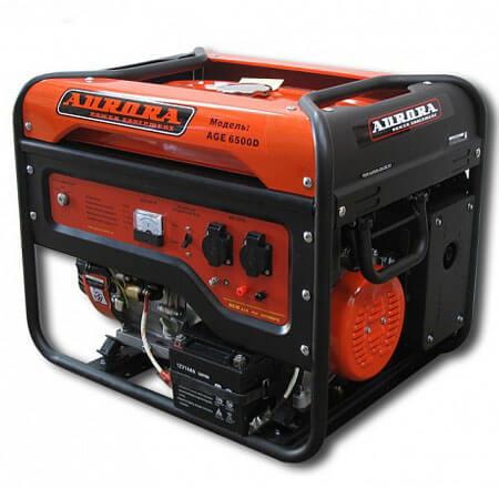 Бензогенератор с электростартером Aurora AGE 6500D на 5,5 кВт