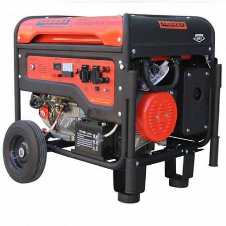 Бензогенератор Aurora AGE 8500 DZN PLUS (7,5 кВт, 220В, блок автоматики, счетчик)