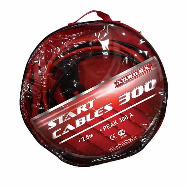 Пусковой кабель Aurora START CABLES 300 (2,5м, 150А, 6MMQ)