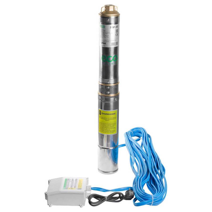 Скважинный насос ECO DW-55 (550Вт, 4500 л/ч, H=57м) для скважин до 25м