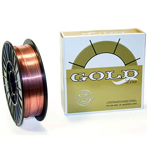 Сварочная проволока GOLD G3Si1 (Св-08Г2С-О) D200 для стали (d0.8 — 5 кг)