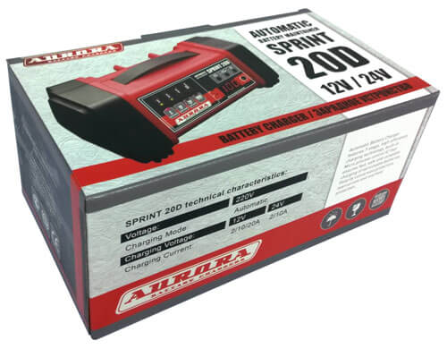 Упаковка зарядного устройства SPRINT-20D