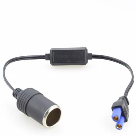 Адаптер в пусковой разъем АТОМ ЕС5 с защитой от глубокой разрядки