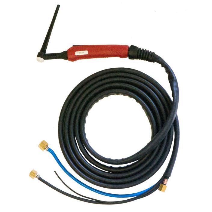 Горелка с водяным охлаждением TIG SUPER TS 20 250A (100%), M12x1, газ 1/4G, вода 3/8G, с упр. разъёмами 2-3-5pin (4м, 8м)