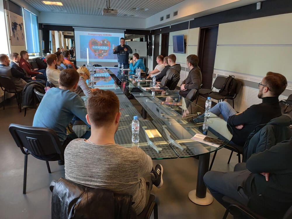 Обучающий семинар в Минске по сварочному и компрессорному оборудованию Aurora
