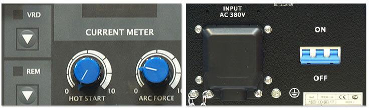 Панель управления сварочного инвертора Aurora Stronghold 400