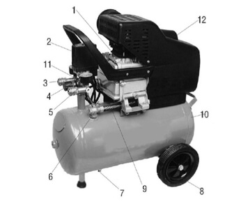 Основные компоненты компрессора Aurora Wind-25