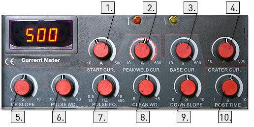 Панель управления Aurora PRO IRONMAN TIG 500 AC/DC PULSE