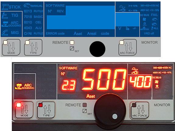 Aurora Skyway 500 Dual Pulse меню