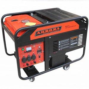 Бензогенератор с электростартером Aurora AGE 12000DZN PLUS на 10 кВт кВт со счетчиком моточасов и блоком автоматики