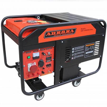 Бензогенератор Aurora AGE 12500 DSX DUAL (10 кВт, 220В и 380В, электростартер)