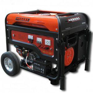 Бензогенератор с электростартером Aurora AGE 6500DSX на 5,5 с 380В кВт
