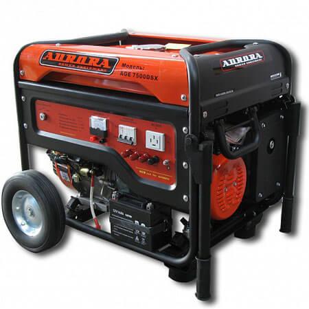 Бензогенератор Aurora AGE 7500 DSX (6,5 кВт, 380В, электростартер)