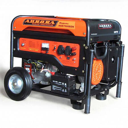 Бензиновый генератор Aurora AGE 7500 DZN (6,5 кВт, 220В, с блоком автоматики)