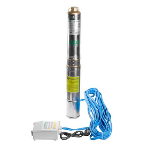 Скважинный насос ECO DW-37 (370 Вт, 4000 л/ч, H=38 м) для скважин до 18м