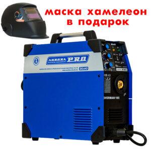 Сварочный инвертор AuroraPRO Overman 185 + Маска A998F BLACK COSMO